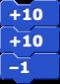 Script of +10, +10, –1