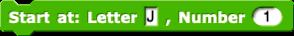 Start at Letter (J), Number (1)