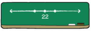 number line with one point